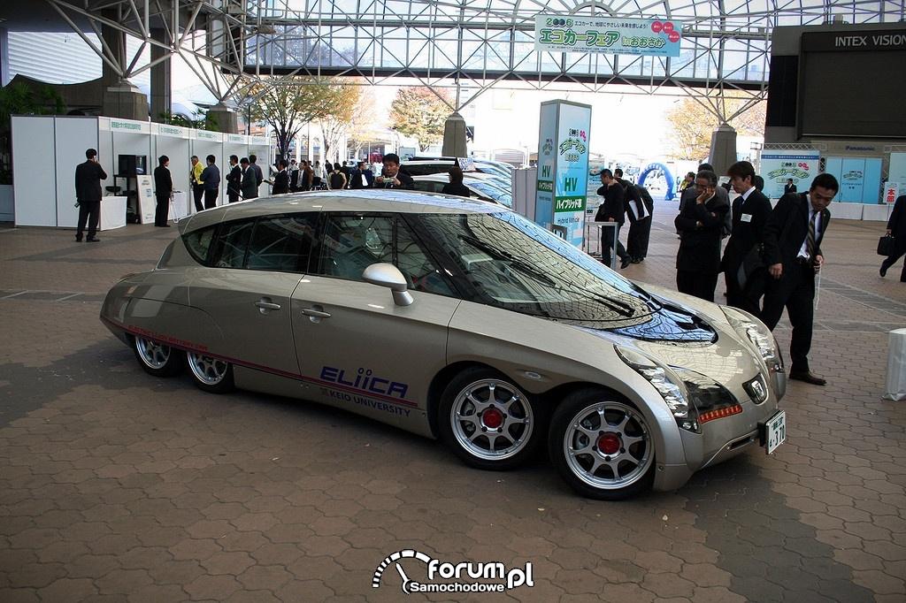 Eliica - elektryczny koncepcyjny pojazd ośmiokołowy