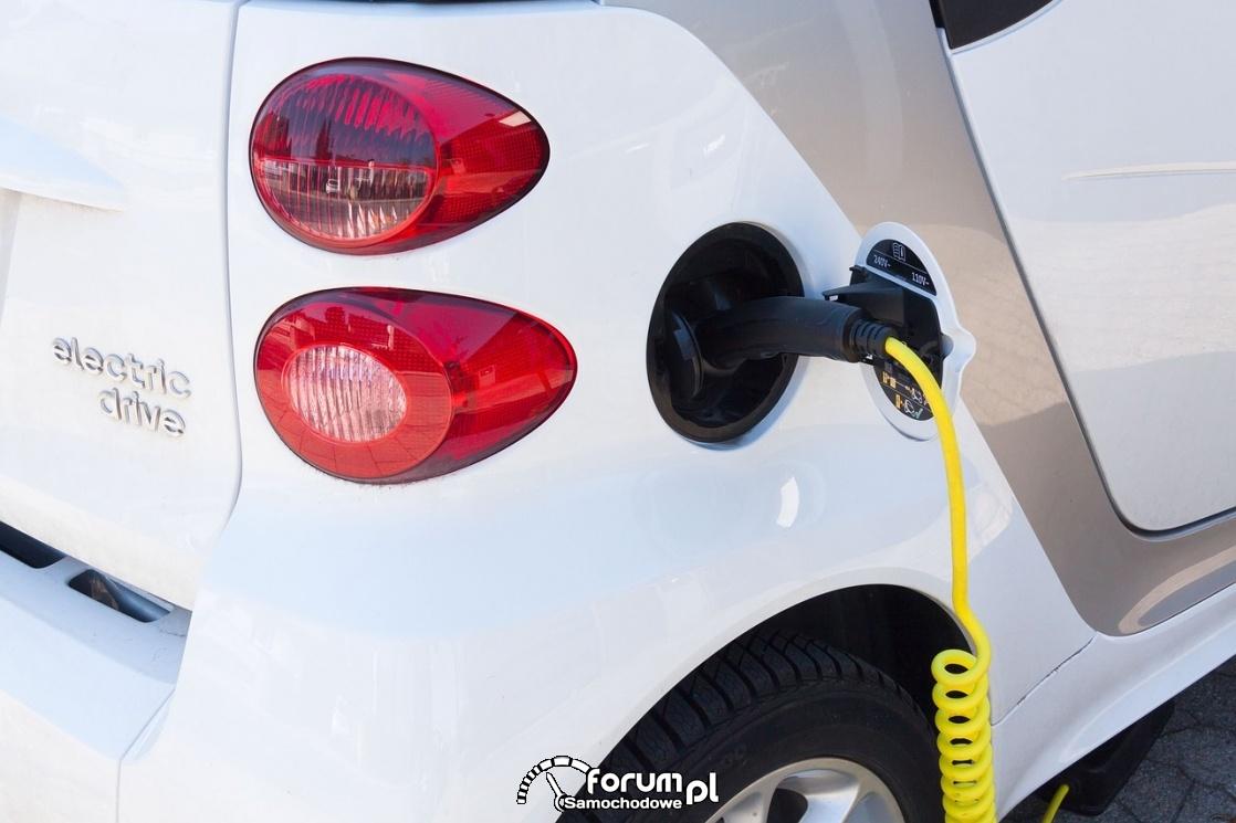 Ładowanie samochodu elektrycznego, tankowanie prądu