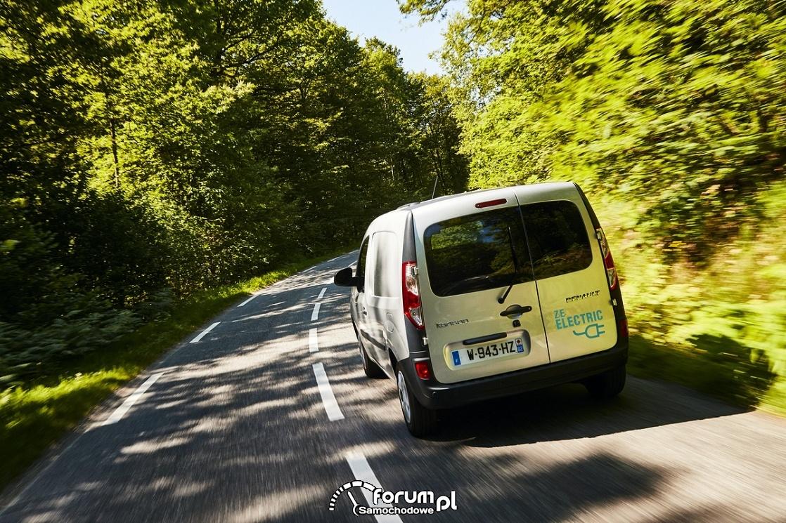 Renault Kangoo ZE, elektryczny samochód dostawczy, tył