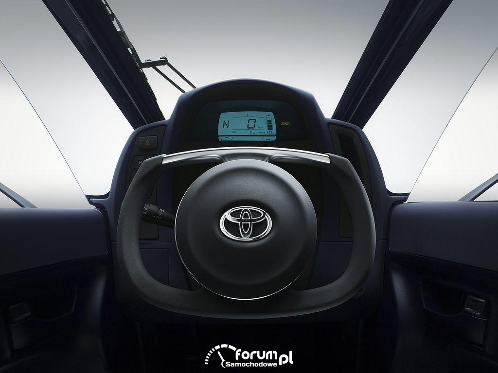 Toyota i-Road, kierownica i licznik