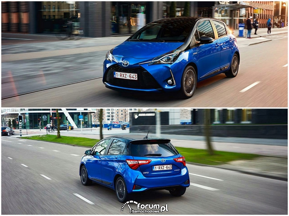 Toyota Yaris Hybrid, przód i tył