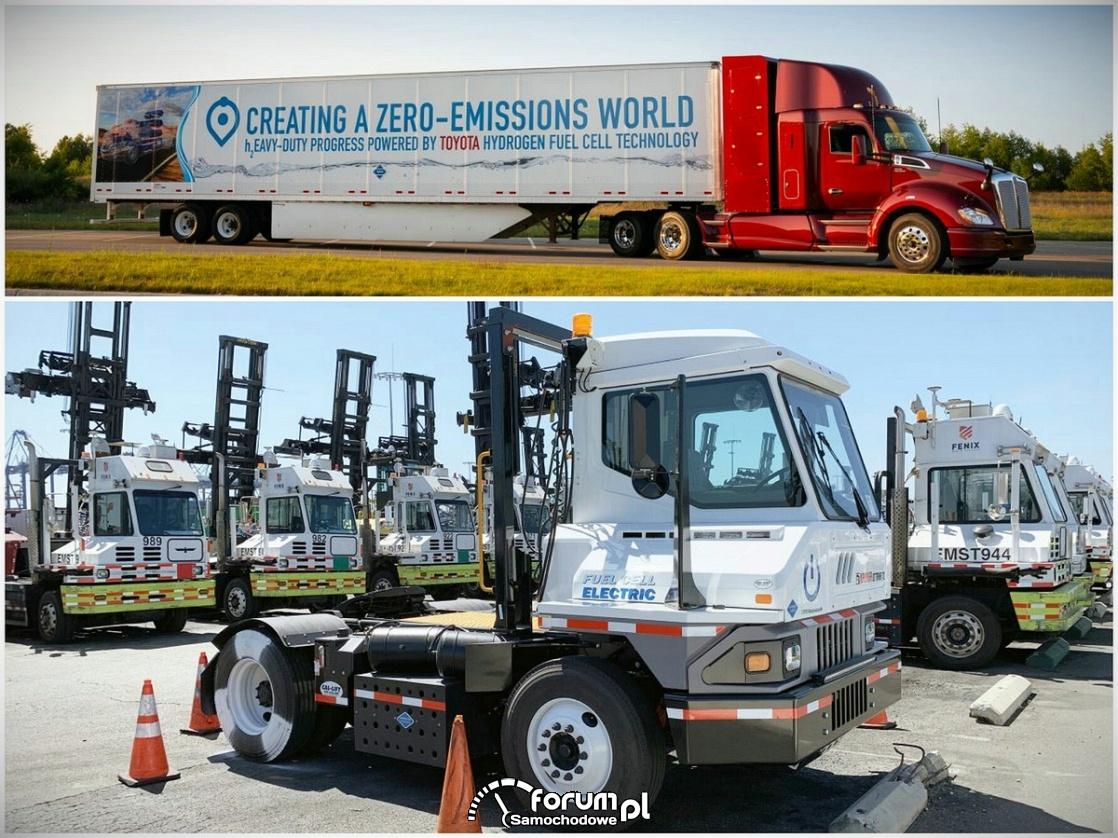 Nowa wodorowa ciężarówka Toyoty do przewozu kontenerów