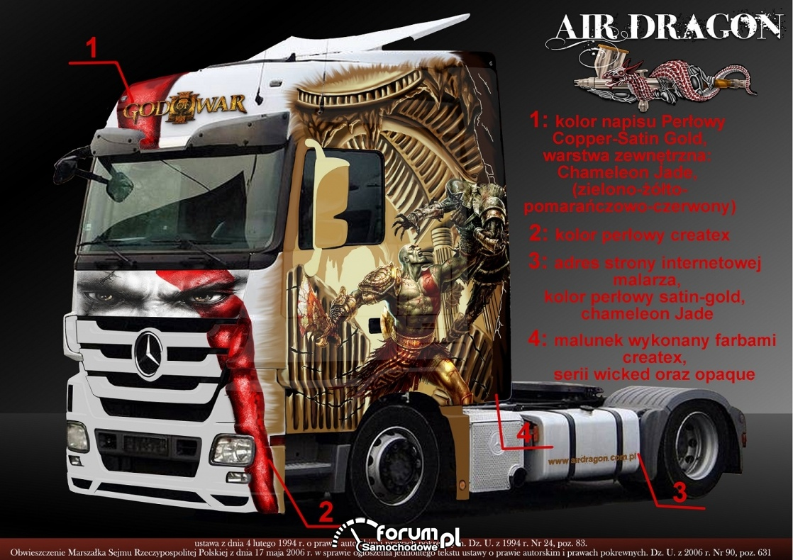 "Projekt ""God of War"" Mercedes Actros [NA SPRZEDAŻ]"