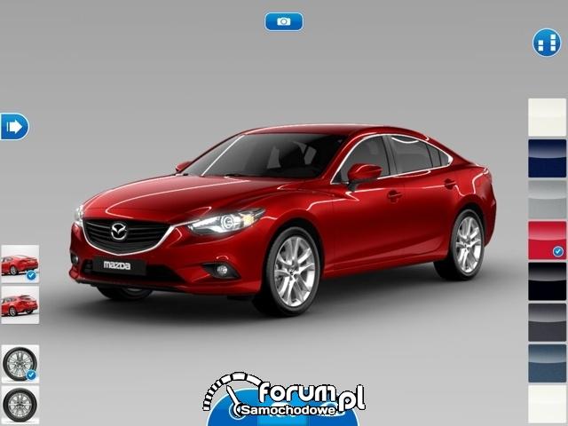 Aplikacja iPAD Mazda6, wygląd zewnętrzny