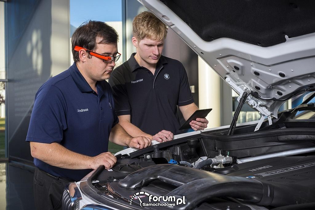 Kontrolerzy w BMW wykorzystują inteligentne okulary Google