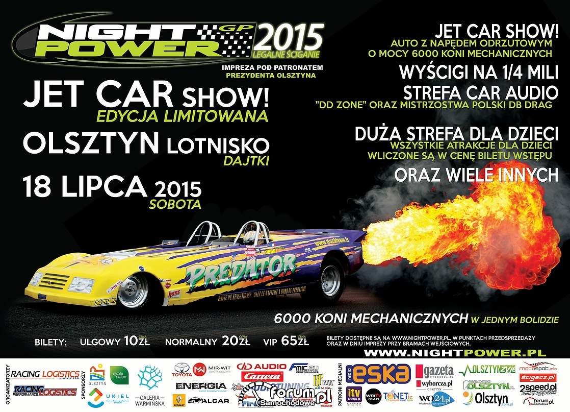 Jet Car Show - Night Power 2015