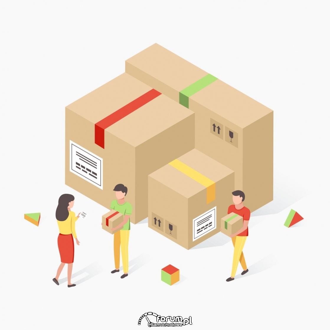 Kurier, przesyłka, dostarczanie paczek