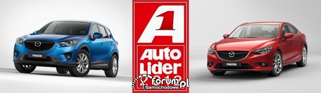 Mazda6 i Mazda CX-5 nagrodzone w plebiscycie Auto Lider 2012