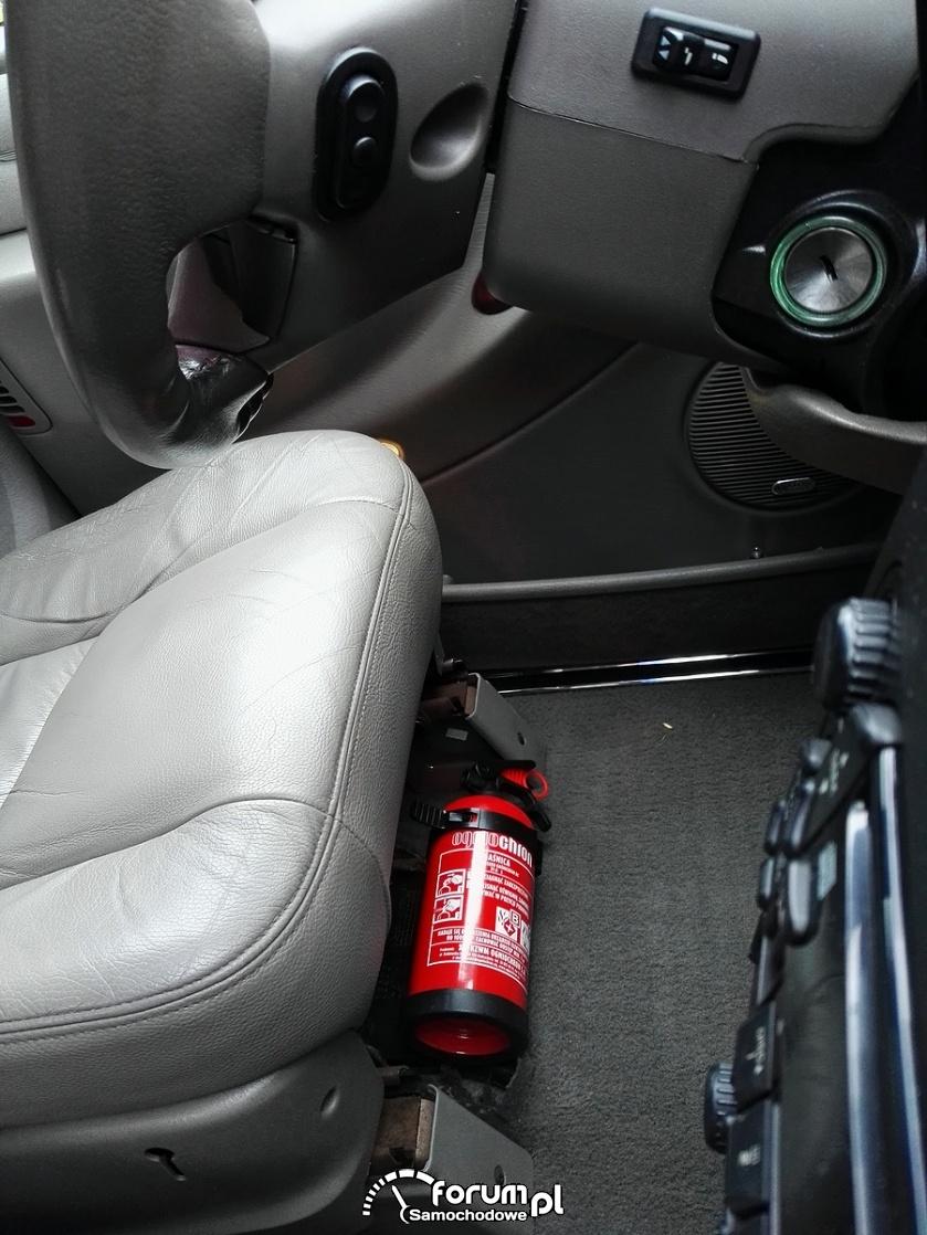 Miejsce montażu gaśnicy w samochodzie