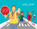 Przejście dla dzieci idących do szkoły