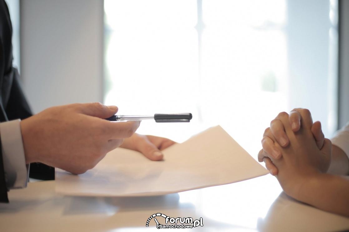 Umowa, dokument