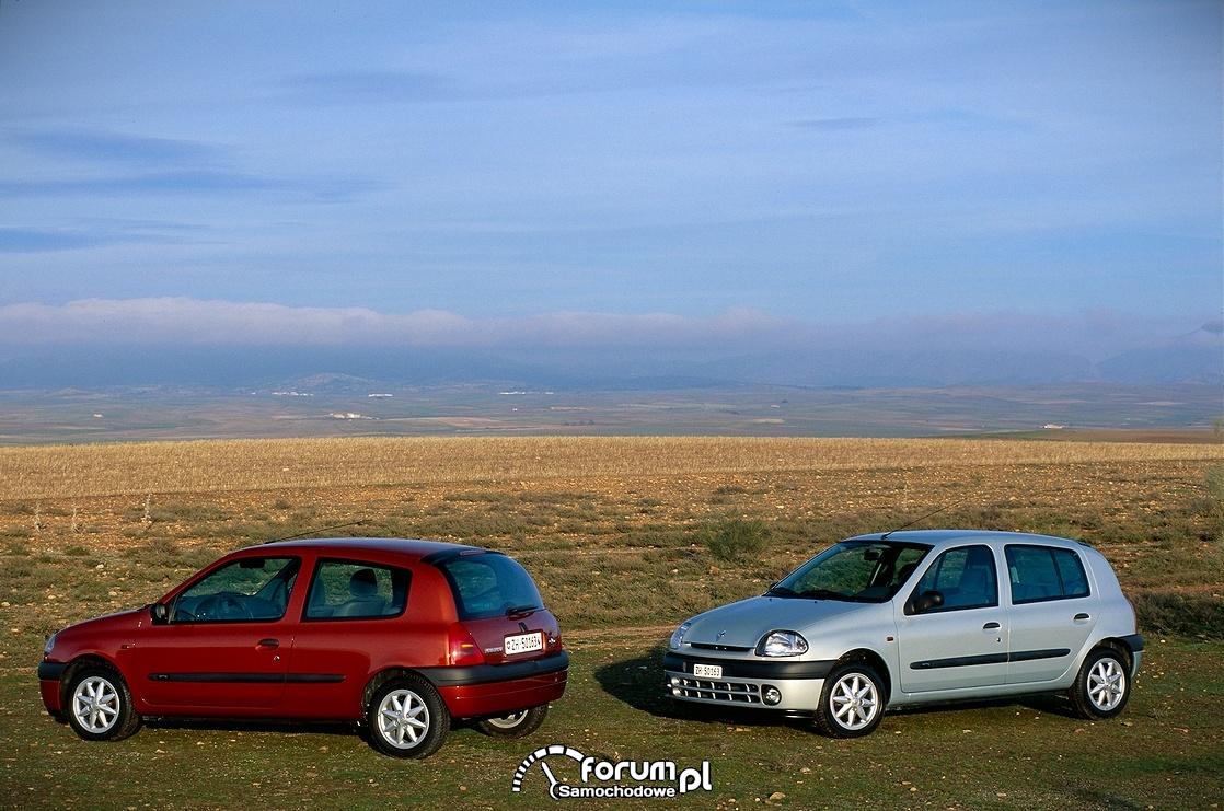 Renault Clio 2, dwie wersje nadwozia