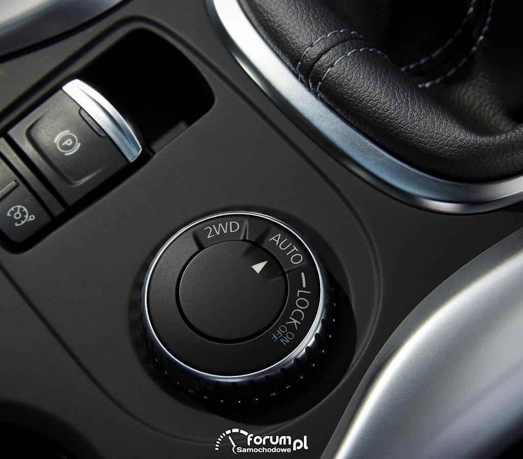 Renault Kadjar, przełączanie napędów
