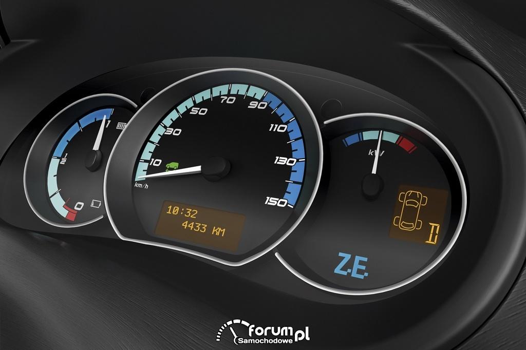 Renault Kangoo Z.E., zegary, licznik