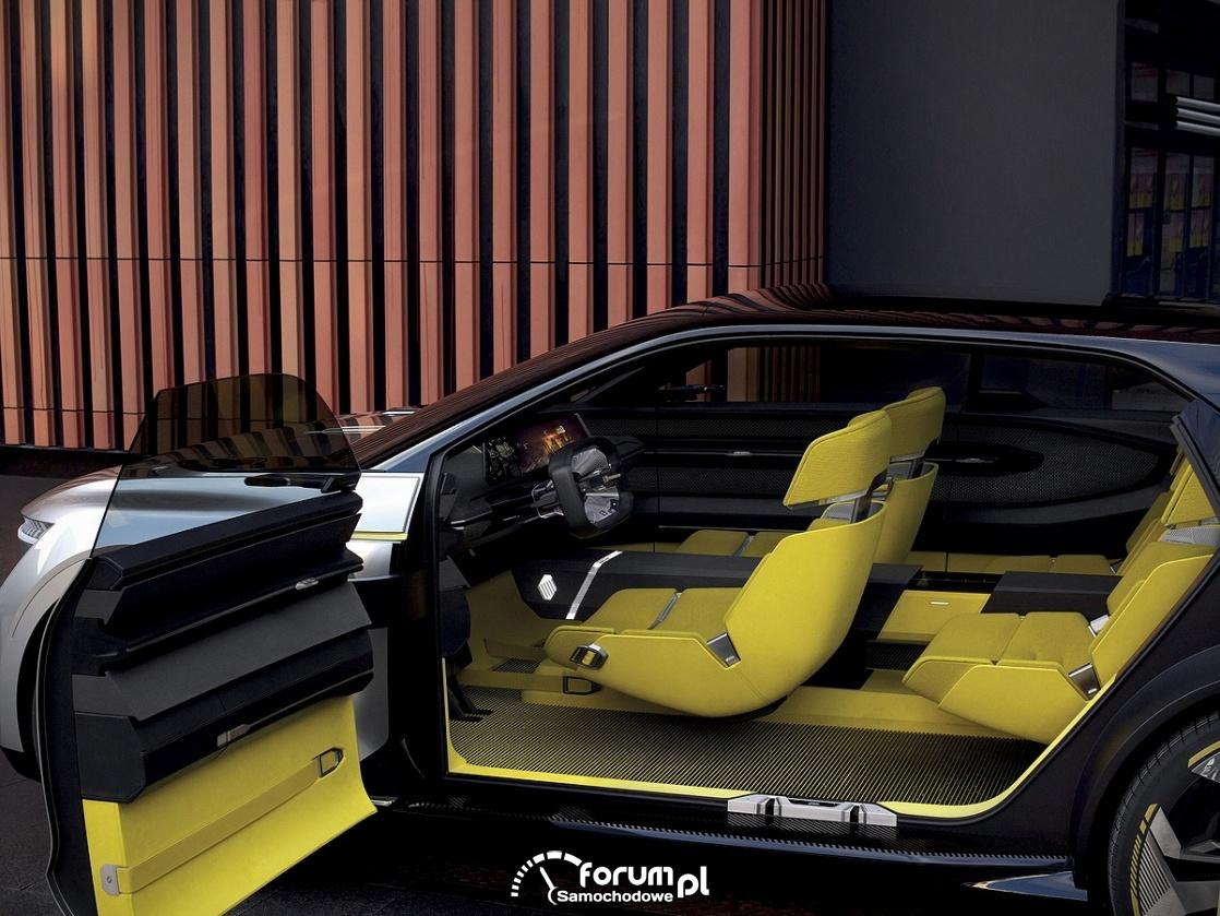 Renault MORPHOZ - samochód koncepcyjny, szeroko otwierane drzwi
