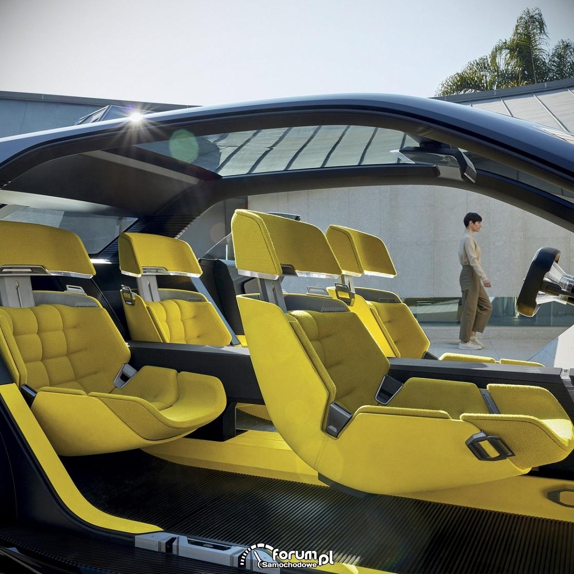Renault MORPHOZ - samochód koncepcyjny, wnętrze