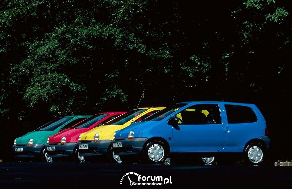 Renault Twingo, cztery dostępne kolory, 1993 rok