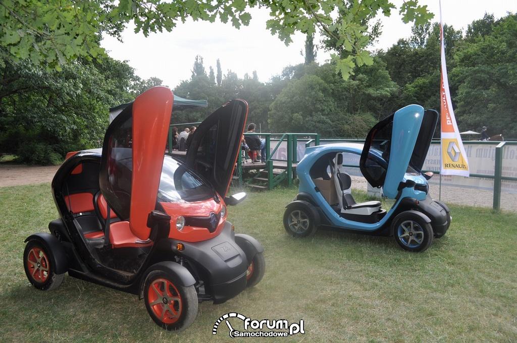 Renault Twizy w Łazienkach Królewskich