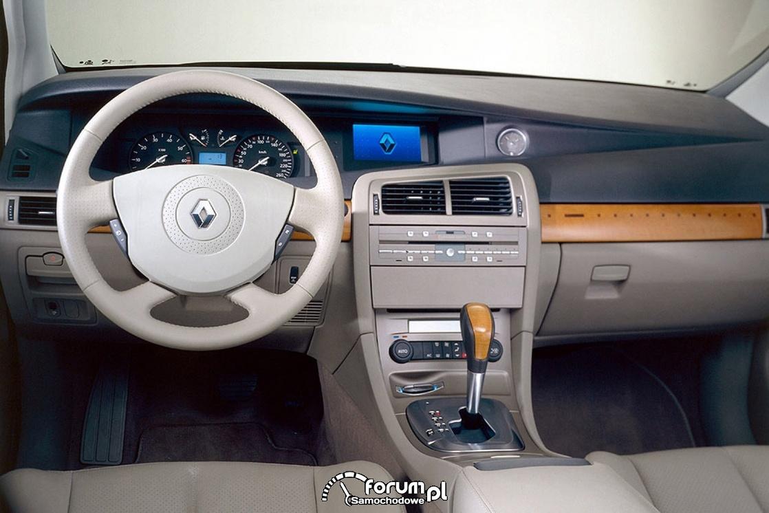 Renault Vel Satis, wnętrze, deska rozdzielcza