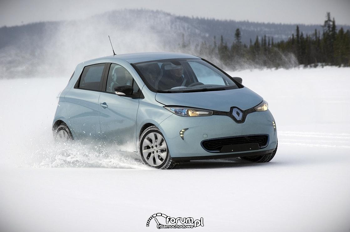 Renault ZOE, jazda po śniegu