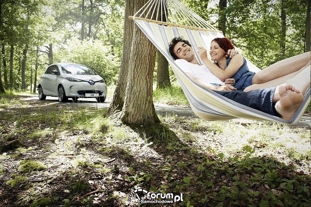 Renault ZOE, wakacje na hamaku
