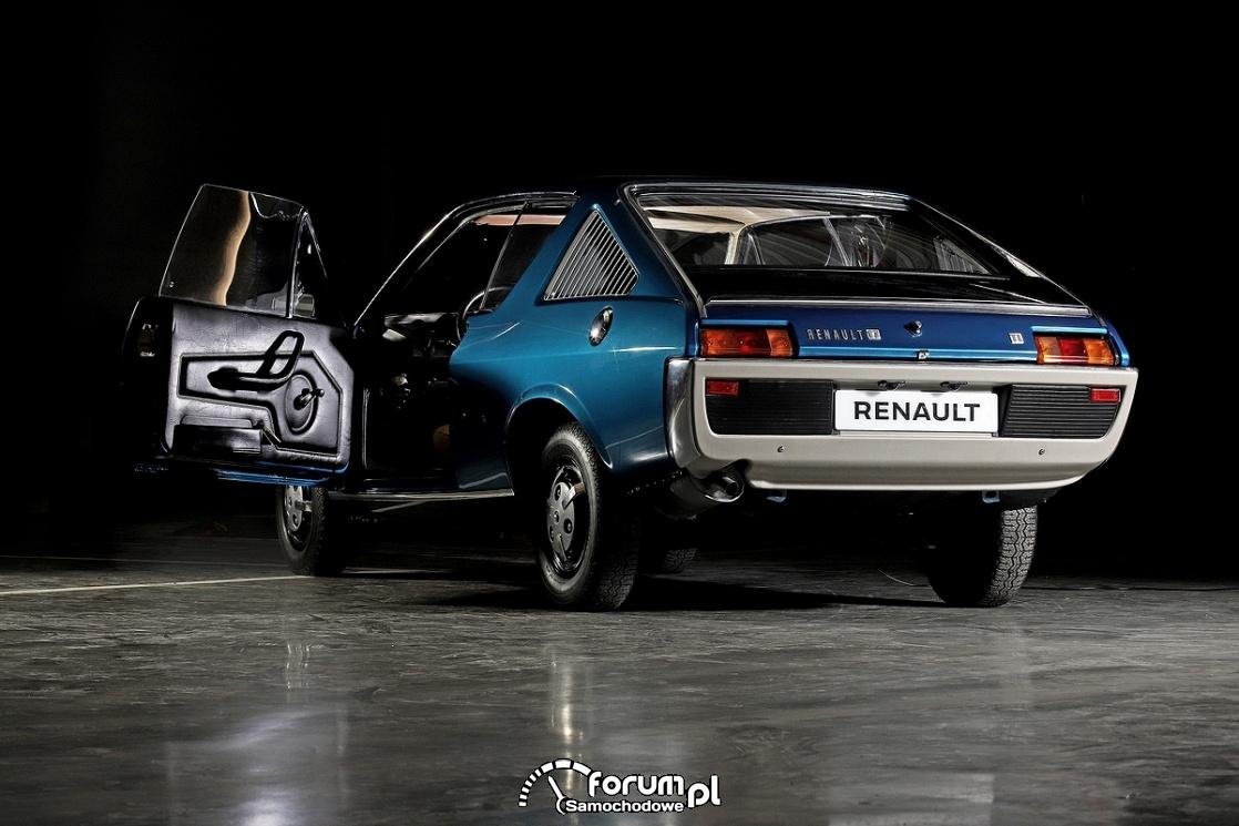 Renault 17 TL, tył, 1972 rok