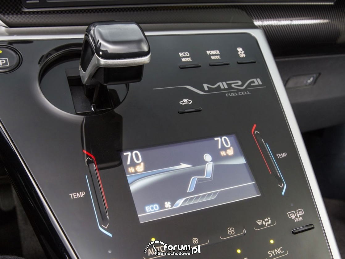 Środkowa konsola, Toyota Mirai, fuelcell