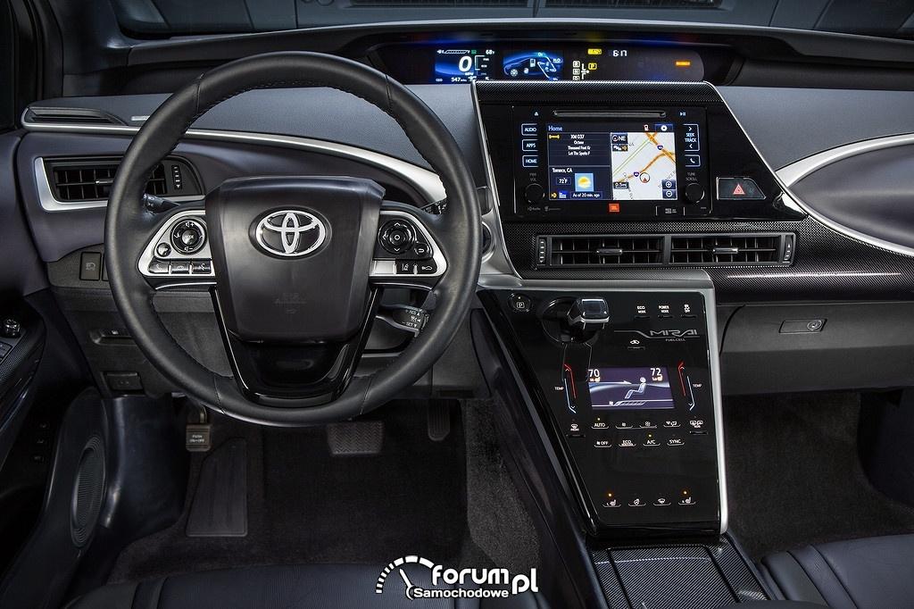 Toyota Mirai, deska rozdzielcza