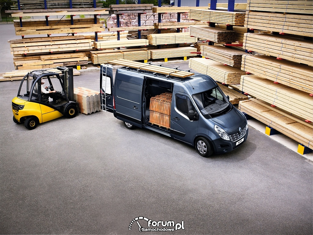 Renault Master, 2014, załadunek