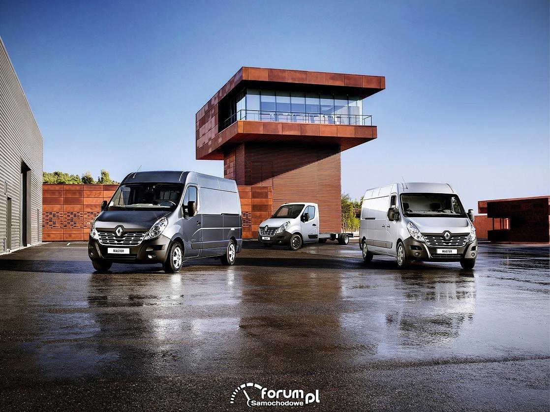 Renault Master, różne wersje nadwozia