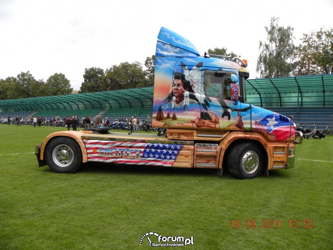 Scania seria T, aerografia, ciągnik siodłowy