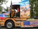 Scania seria T, widok z boku na ciągnik