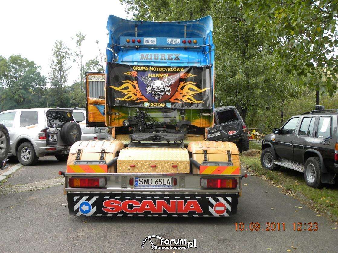 Scania seria T, widok z tyłu na siodło