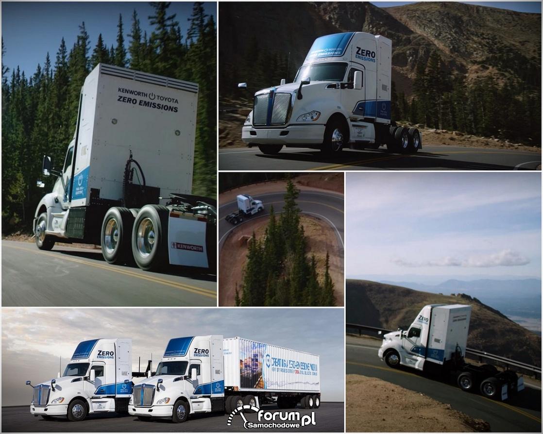 Wodorowa ciężarówka Toyoty i Kenworth tworzy historię na Pikes Peak