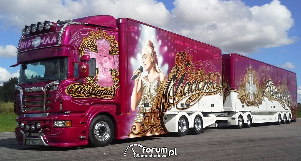 Zestaw Madonna, ciężarówka z przyczepą