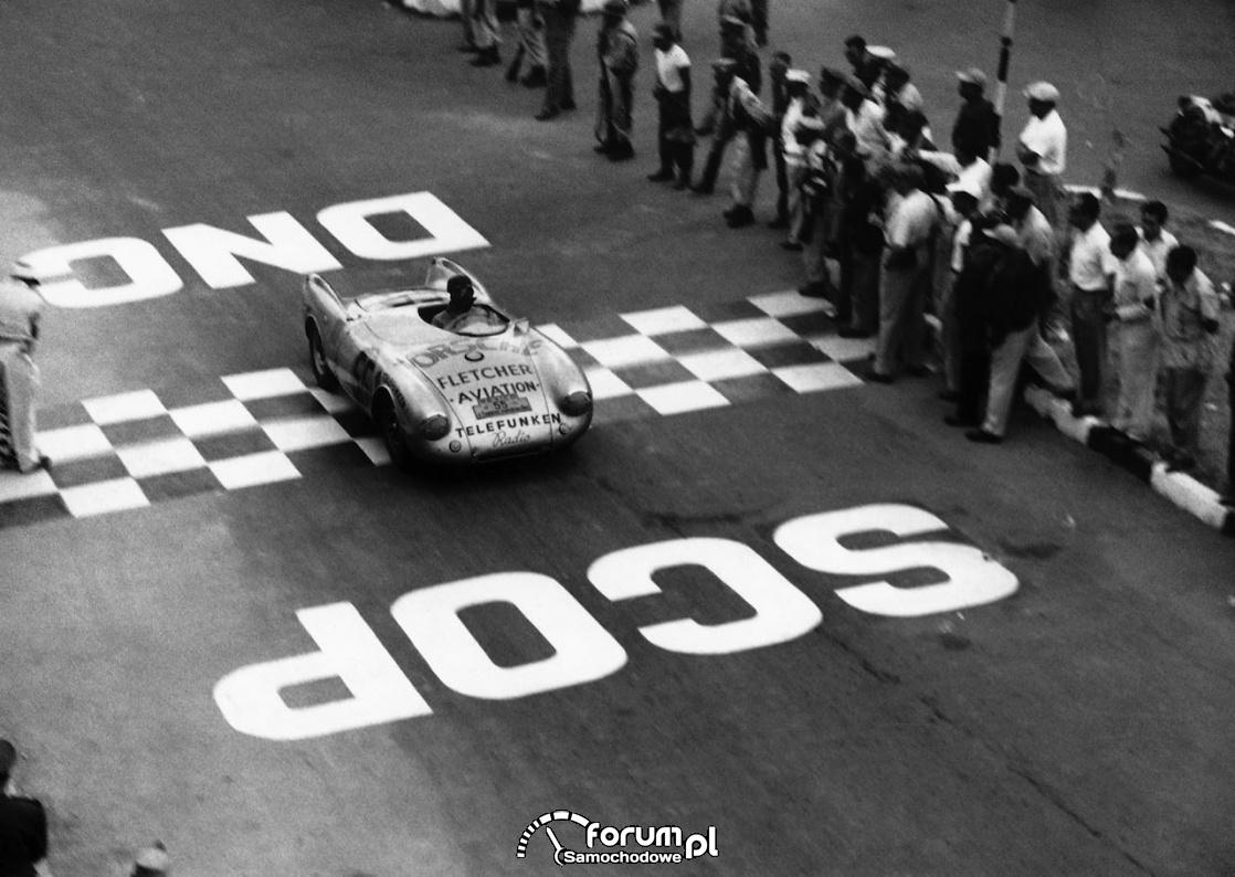 Porsche 550 spyder - Carrera Panamericana, wyścig