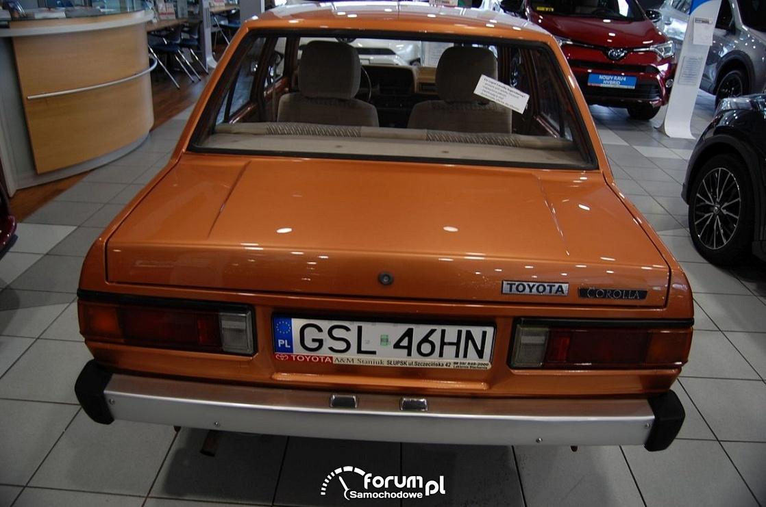 Toyota Corolla 1981 rok, tył