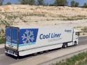 Osłony boczne zmniejszające opór powietrza w naczepie chłodni