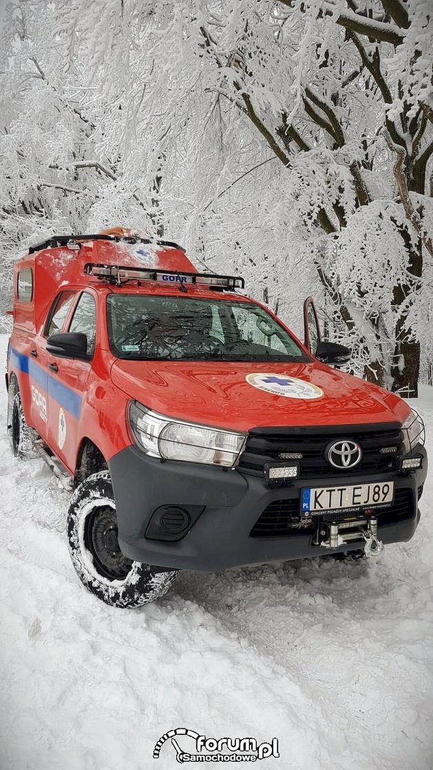 Toyota Hilux w służbie GOPR