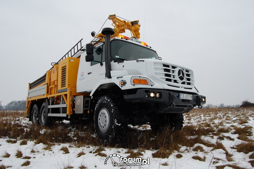 Drużyna Zetros - ciężko pracuje na terenie kopalni KWB Turów