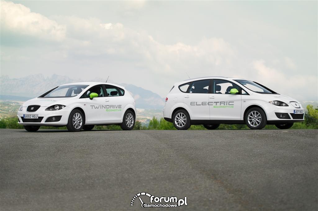 Seat Leon TwinDrive Ecomotive i Seat Altea XL Electric Ecomotive