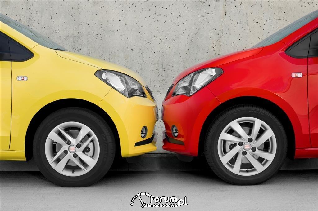 SEAT Mii - czerwony i żółty