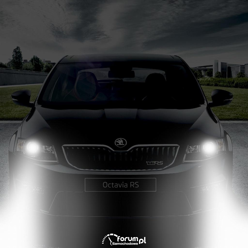 Włączone światła mijania, Skoda Octavia RS