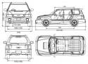 Subaru Forester I wymiary