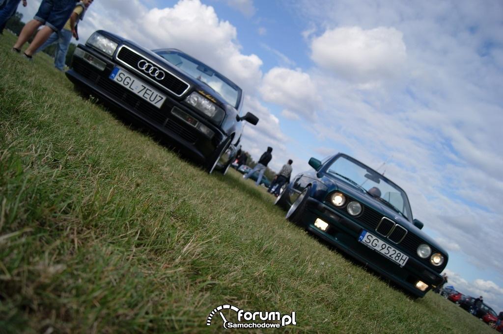 BMW E30 Cabrio, Audi 80 Cabrio, przód