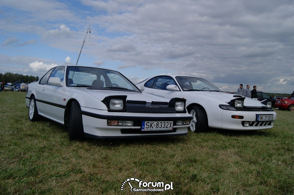 Toyota Celica, Honda Prelude, przód