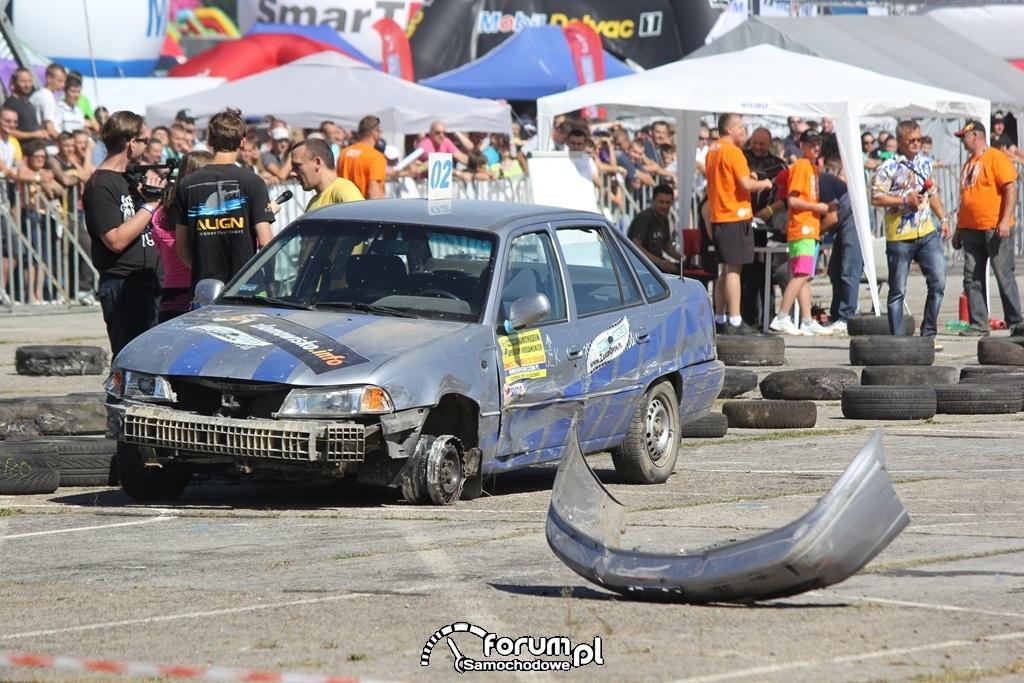 Daewoo Nexia bez zderzaka, Wrak Race