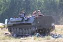 MTLB-u wojskowy pojazd gąsienicowy, tył