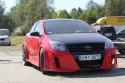 Opel Astra 3 GTC, czerwona, przód