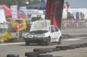 Renault Megane z otwartą maską, przód, Wrak Race